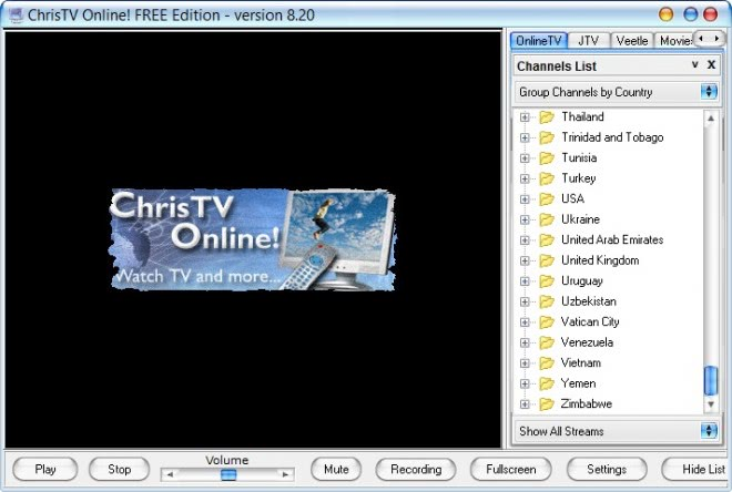 christv online main screen