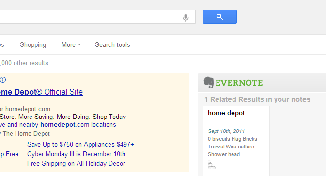 evernote web clipper related results