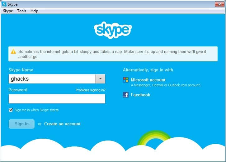 facebook chat skype