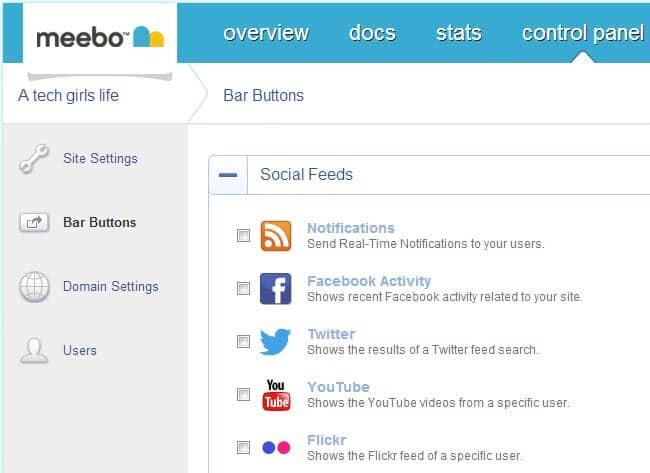 meebo bar configuration