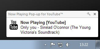 now playing on youtube