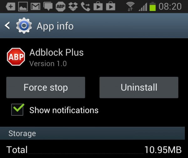 uninstall apps android