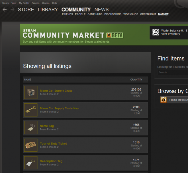 Sell items on steam sparkles cfg