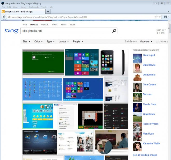 bing images search