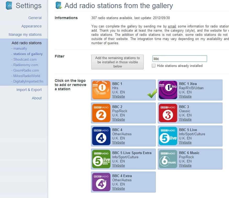 listen to online radio Chrome