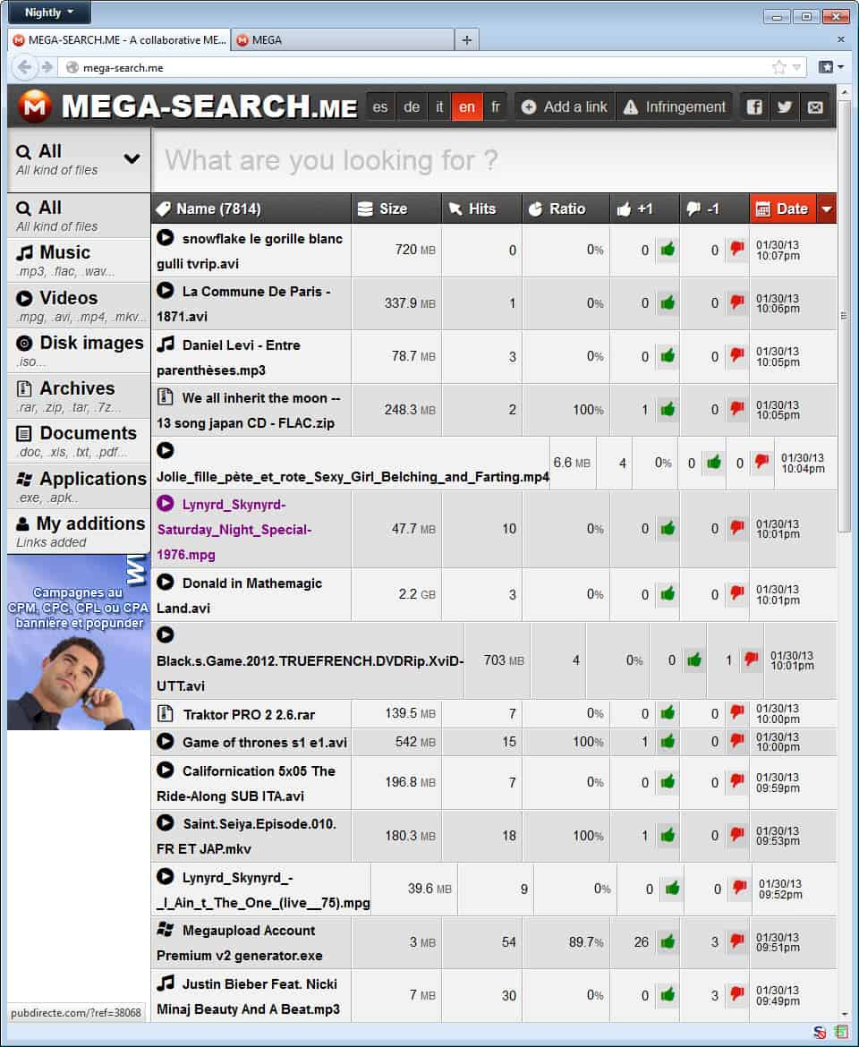 Megasearch engines for porn