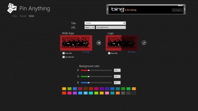 pin anything screenshot