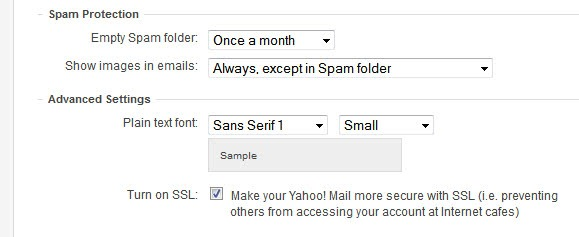 yahoo mail ssl