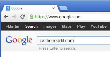 access cached webpages google screenshot