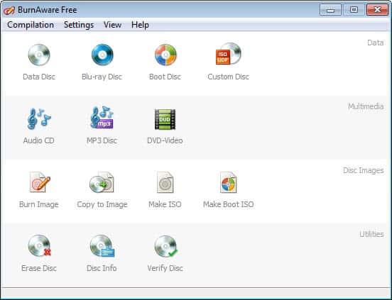burnaware free 6.0 screenshot