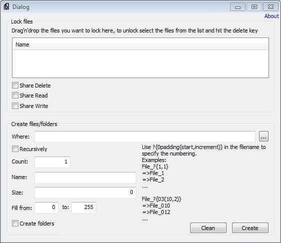 create multiple folders files