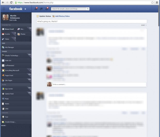 facebook theme makeover screenshot