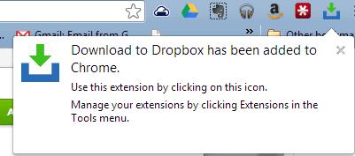 google chrome dropbox icon screenshot