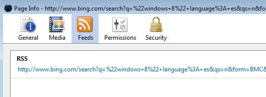 Bing rss feed