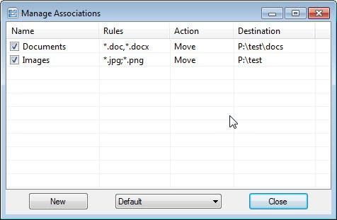 file associations