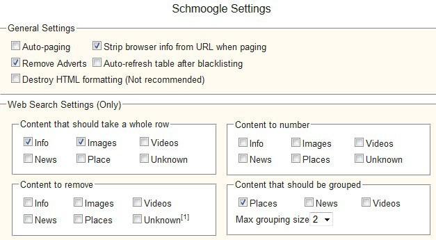 google search settings screenshot