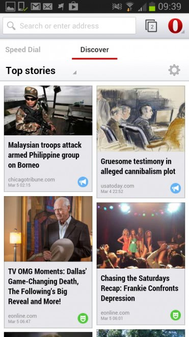 opera discover screenshot