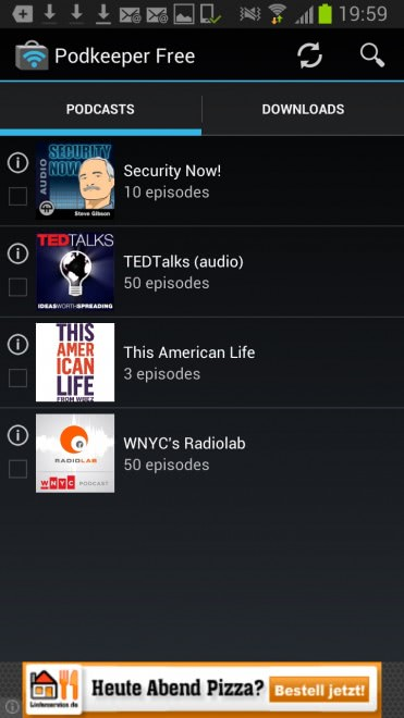 Podkeeper: search, download and listen to podcasts on Android -