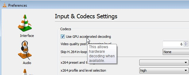 Vlc 3 hardware decoding option for 4k best
