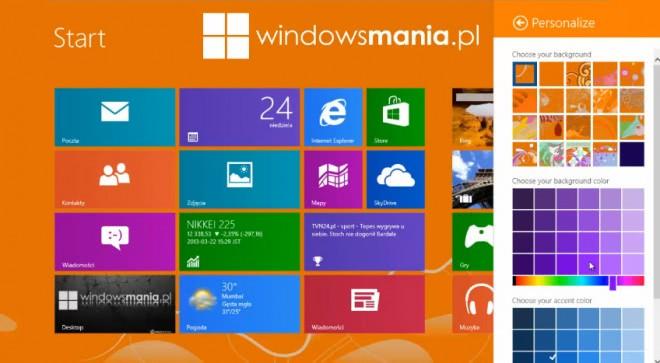windows blue personalization