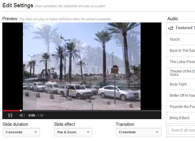 youtube slideshows