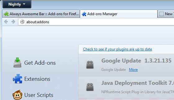 firefox address bar screenshot