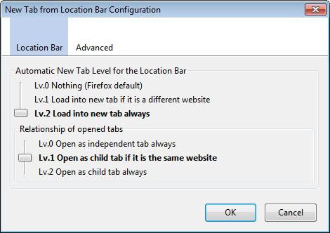 firefox new tab location bar