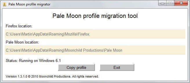 pale moon profile migration tool