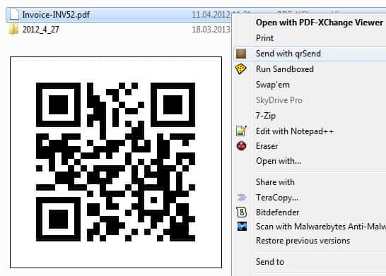 transfer files pc android - Use qrSend to send files from your PC to your Android device