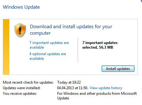 windows update april 2013