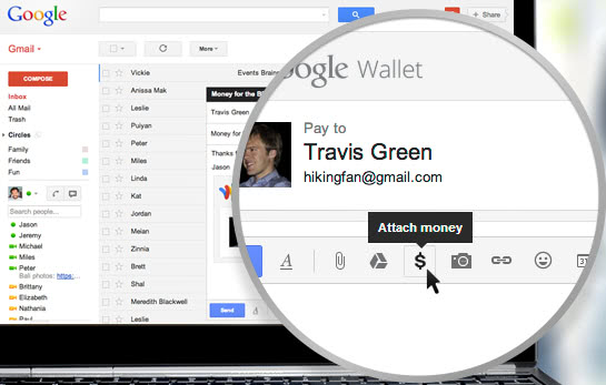 Gmail integrated Google Wallet lets you send money right away to scammers