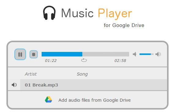 google drive music player