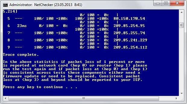 internet packet loss