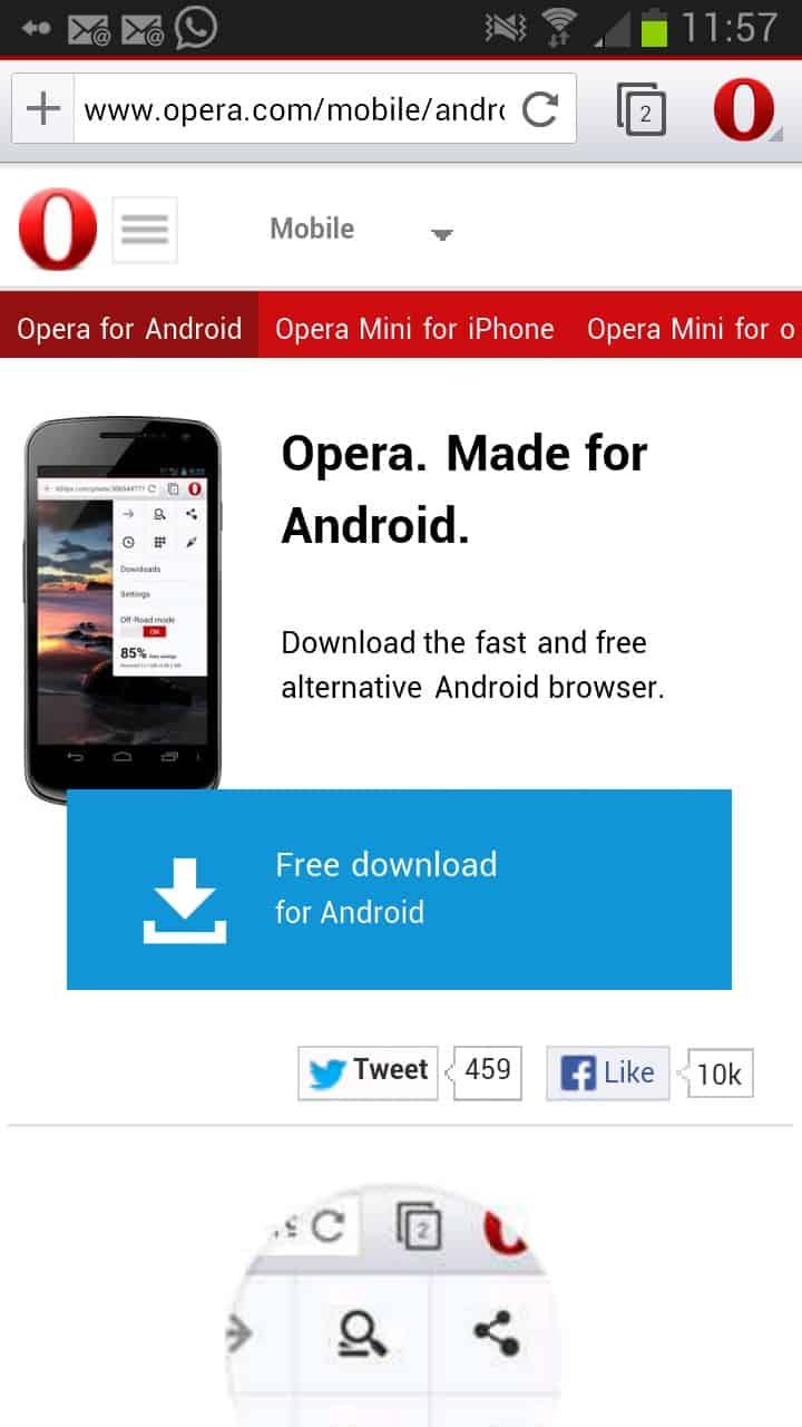 скачать оперу на андроид 5