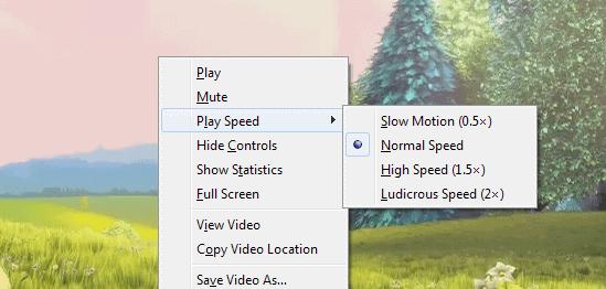 HTML5 audio video playback speed