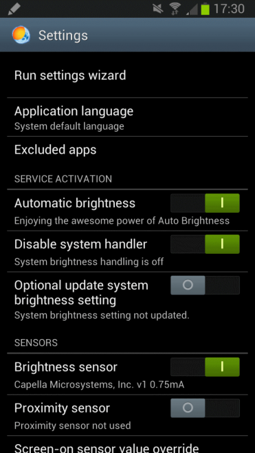 android brightness app