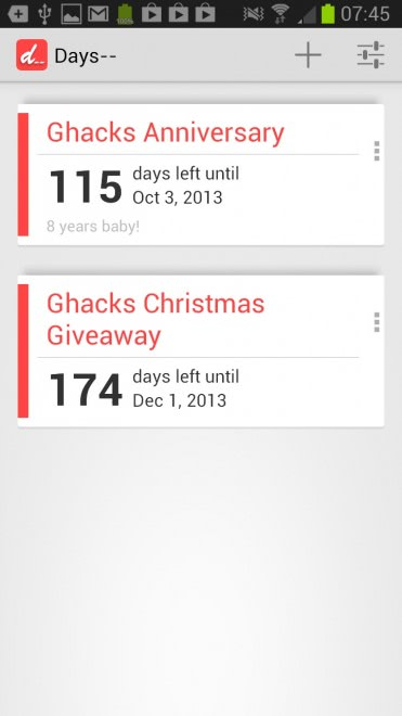 days countdown app