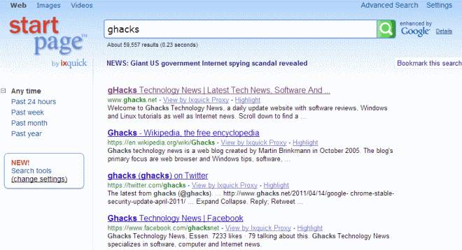 ... to switch to DuckDuckGo or Startpage for web search - gHacks Tech News