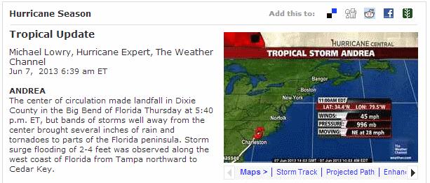 weather.com tropical storm center