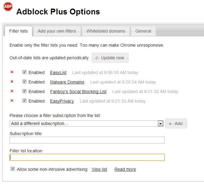 adblock plus custom filter