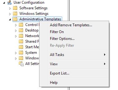 add administrative template