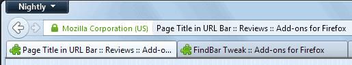 firefox page title url-bar