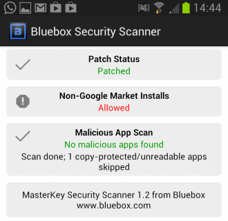 masterkey vulnerability scanner android