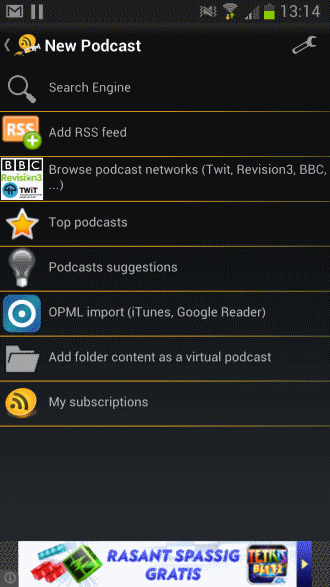 how to download a podcast to android