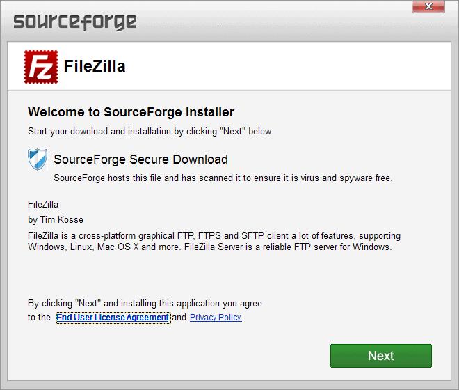 sourceforge installer