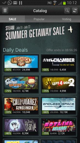 steam summer sale mobile apps
