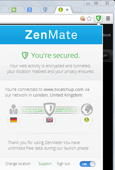 Zenmate for chrome is a vpn with easy location switching ghacks zenmate stopboris Gallery