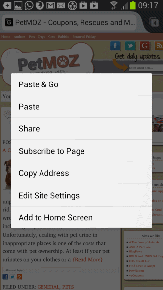 firefox mobile rss feed