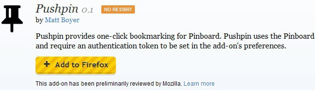 firefox preliminary reviewed extension