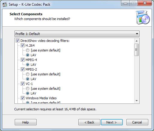 install codecs